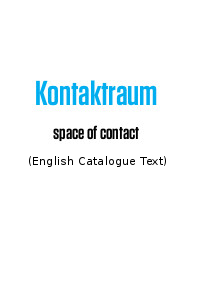Kontraktraum space of contact